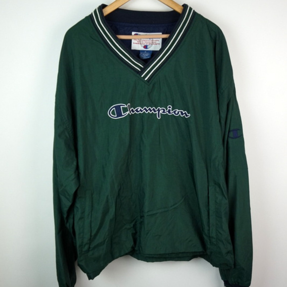 Vintage Champion Windbreaker Pullover Men\u0027s Large